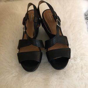 Clark's women's Nadene Ziva wedged sandal